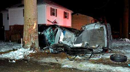 Suffolk County police said a man crashed into