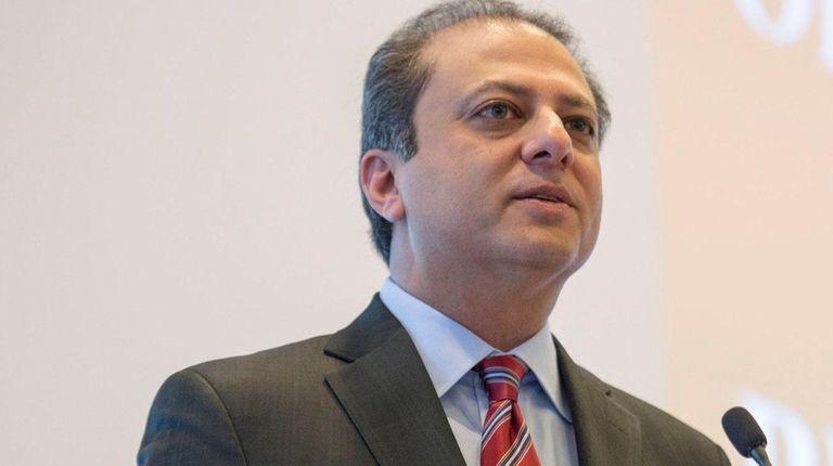 U.S. Attorney Preet Bharara spoke to the New