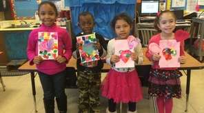 In Freeport, kindergartners at Columbus Avenue Elementary School