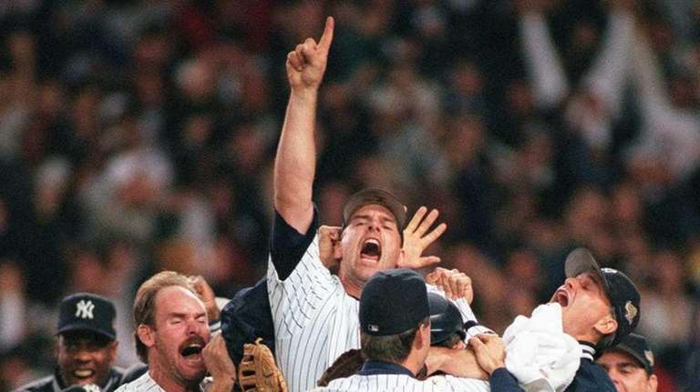 The Yankees win the World Series and celebrate