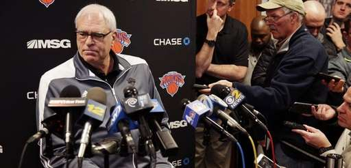New York Knicks President Phil Jackson takes questions