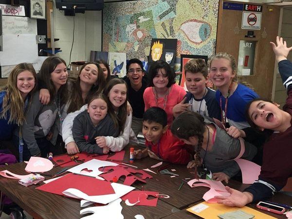 West Babylon Junior High School's Community Service Club