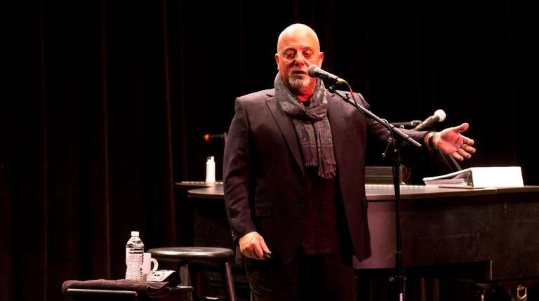Billy Joel speaks during a question-and-answer session at