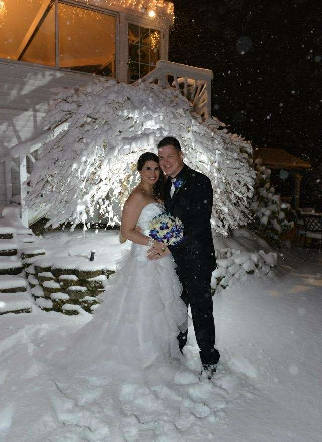 Our perfect snow day. Gary and Kim's wedding,