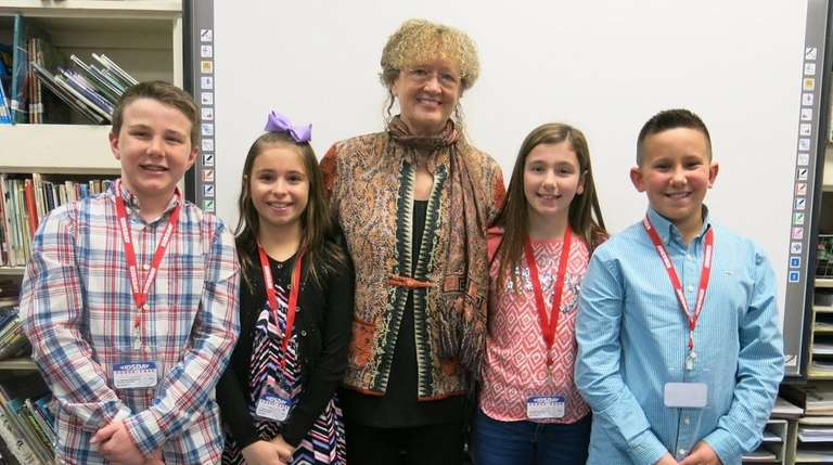 Author Mary Pope Osborne with Kidsday reporters from