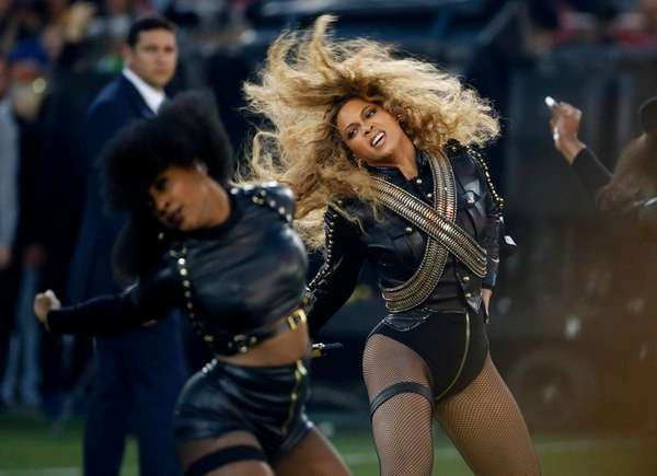 Beyoncé performs during the Super Bowl 50 halftime