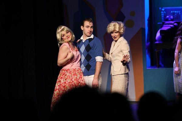 Barbara Tiernan, Michael Marmann, and Cathy Barteid perform