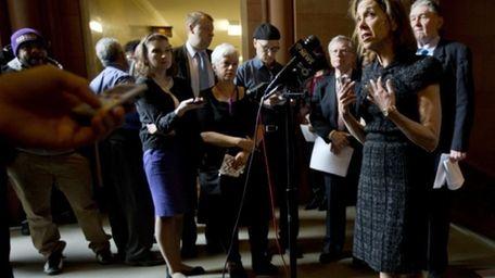 Assemb. Amy Paulin (D-Scarsdale) speaks about her legislation