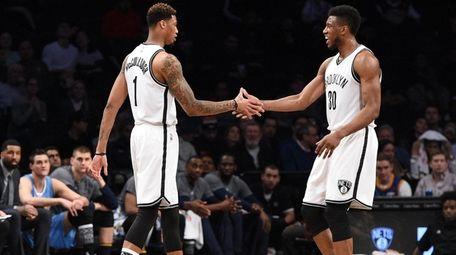 Brooklyn Nets forward Chris McCullough makes his
