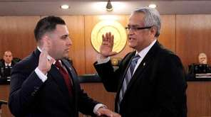 Anthony D'Esposito, a Republican, is sworn in to
