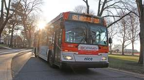 The N51 bus stop at Nassau Community College