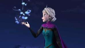 Elsa the Snow Queen, voiced by Idina Menzel,