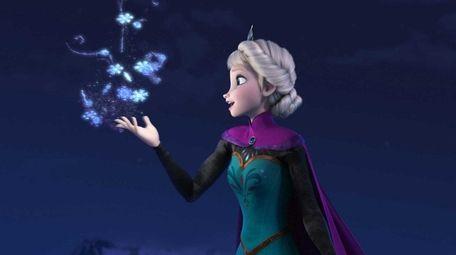 Elsa the Snow Queen, voiced by Idina Menzel,