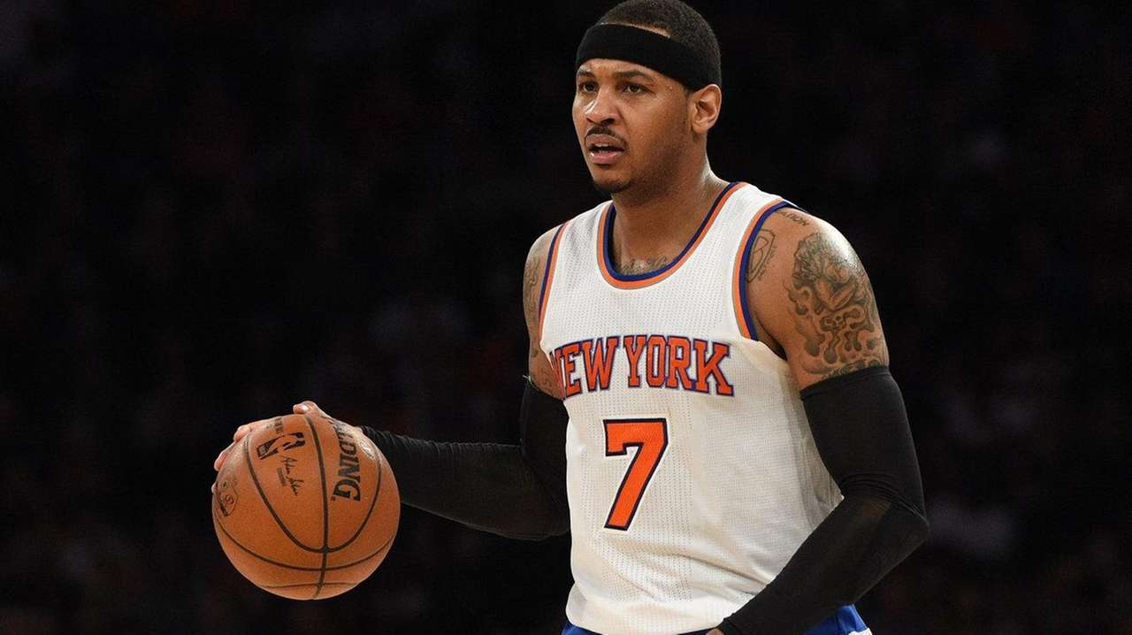 New York Knicks forward Carmelo Anthony brings