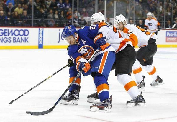 Kyle Okposo of the New York Islanders