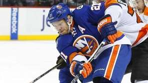 Kyle Okposo of the New York Islanders