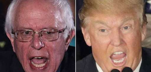 Sen. Bernie Sanders and Donald Trump won the