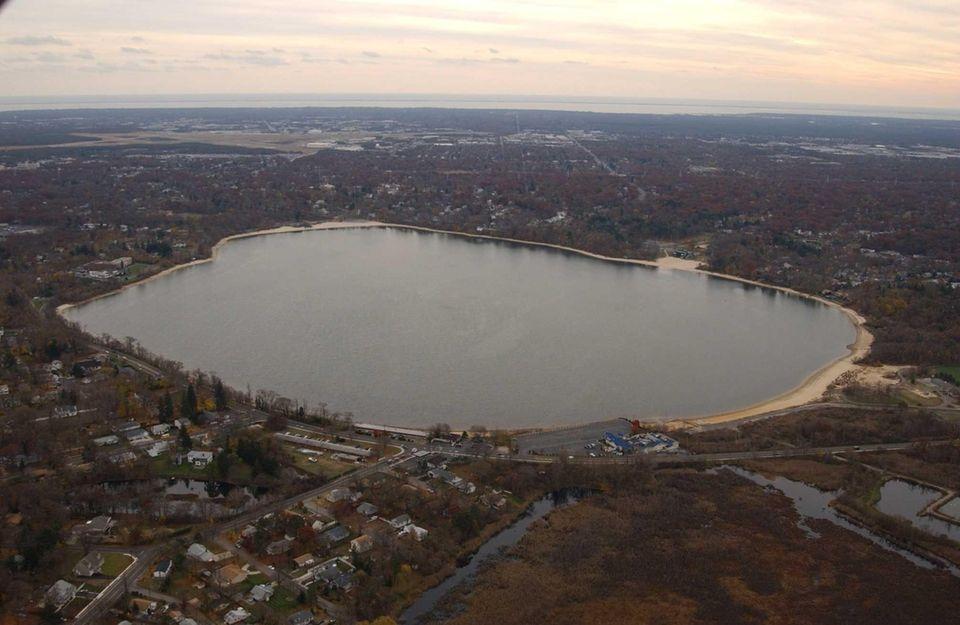 During the late 1800s, Lake Ronkonkoma began