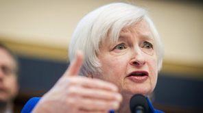 Federal Reserve Chairwoman Janet Yellen speaks during her