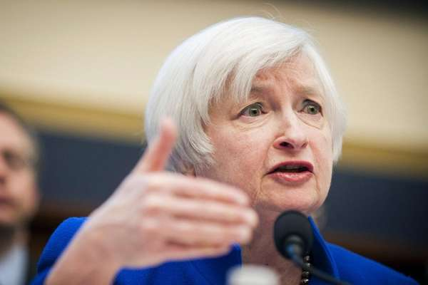 Federal Reserve Chair Janet Yellen speaks during her