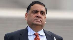 Harendra Singh, leaves federal court in Central Islip