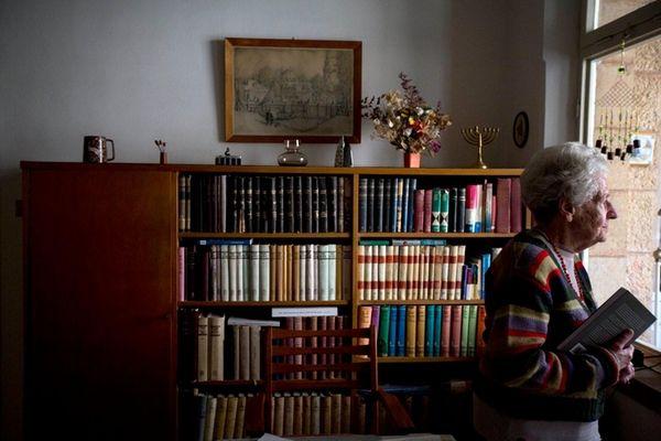 Dutch-Israeli Holocaust survivor Mirjam Bolle, 98, at her
