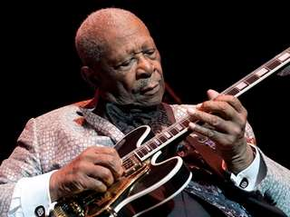 The late blues guitar legend B.B. King is