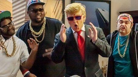 Johnny Depp, center, plays real estate mogul Donald