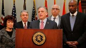 Nassau County Executive Edward Mangano announces a $3