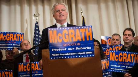 Republican candidate Chris McGrath announces his run for