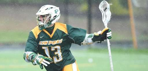 Matty Beccaris, an LIU Post senior attackman from