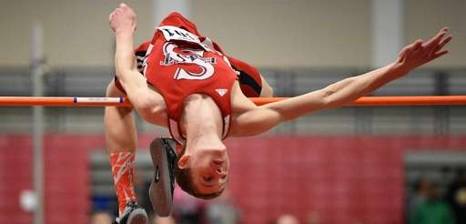 Smithtown East's Daniel Claxton clears six feet, 10