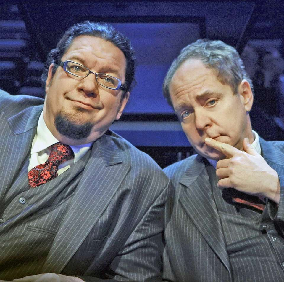 Teller, right, shown with his partner-in-magic, Penn Jillette,