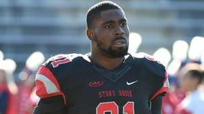 Stony Brook Seawolves defensive lineman Victor Ochi