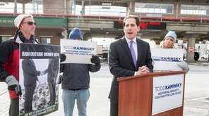 Assemblyman Todd Kaminsky during a press conference where