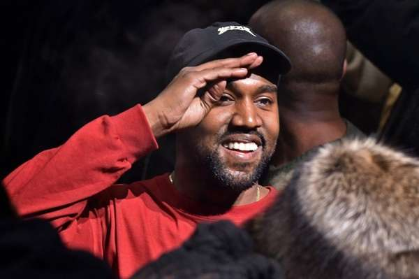 Kanye West holds court at his Yeezy fashion