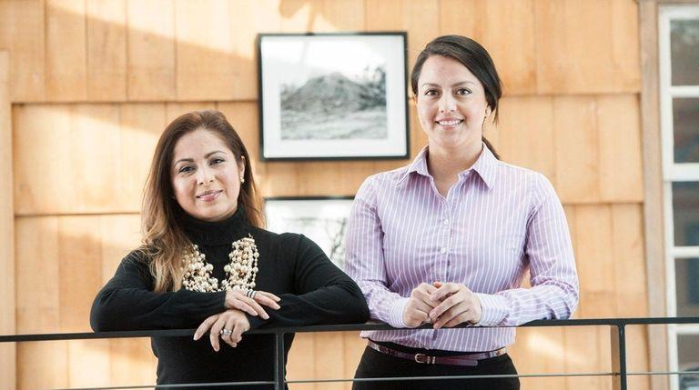 East Hampton Town Latino Advisory Committee co-chairs Angela