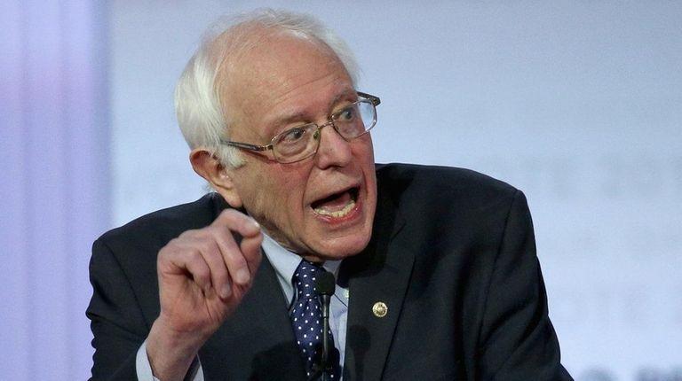 Democratic presidential candidate Sen. Bernie Sanders (I-Vt.) participates