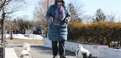 With morning temperatures in the teens, Mary Ellen