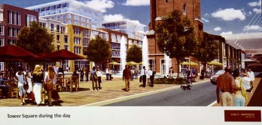 A rendering of the proposed Heartland Town Square