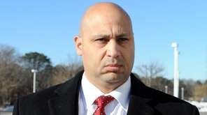 SeanMichael Pagano, outside federal court in Central Islip,