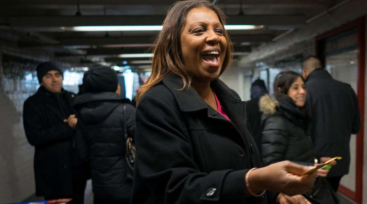 New York City Public Advocate Tish James hands