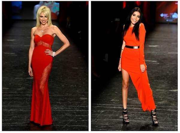 Debbie Gibson and Madison Beer walk the runway