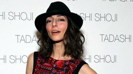 Actress Necar Zadegan poses backstage at the Tadashi