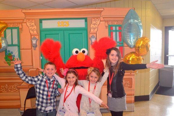 Kidsday reporters Anthony Cerulli, Daniella Cerulli, Maria Cerulli