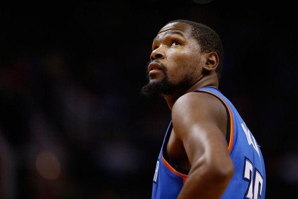 Kevin Durant of the Oklahoma City Thunder looks