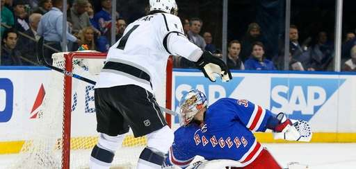 Antti Raanta of the New York Rangers surrenders