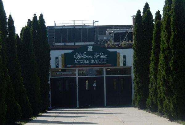 William Paca Middle School in Mastic Beach on