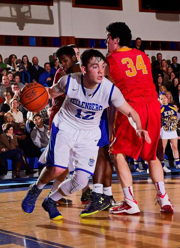 Kellenberg guard Steven Torre drives to the basket