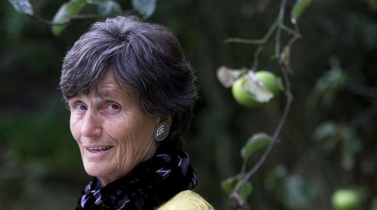 Writer Margaret Foster at home in North London